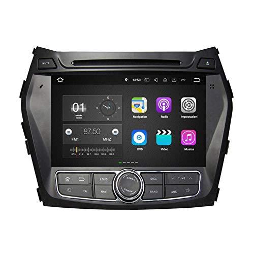 8 Pollici Touchscreen Lettore DVD Android 7.1 Autoradio per Hyundai Santa Fe/IX45(2013-2018), Navigazione GPS DAB+ Radio Bluetooth