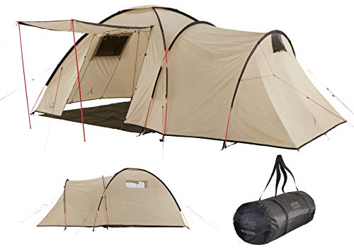 Grand Canyon ATLANTA 3 - Combinaison de dôme et tente tunnel pour 3 personnes | tente familiale | Désert de Mojave (beige)