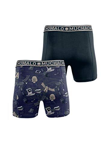 Muchachomalo Herren Boxershorts 2er Pack Always Connected, Größe:M