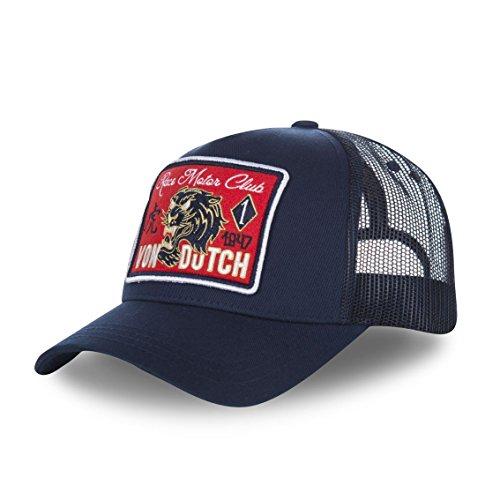 Von Dutch Vondutch - Berretto da baseball da uomo, con rete Famous blu navy