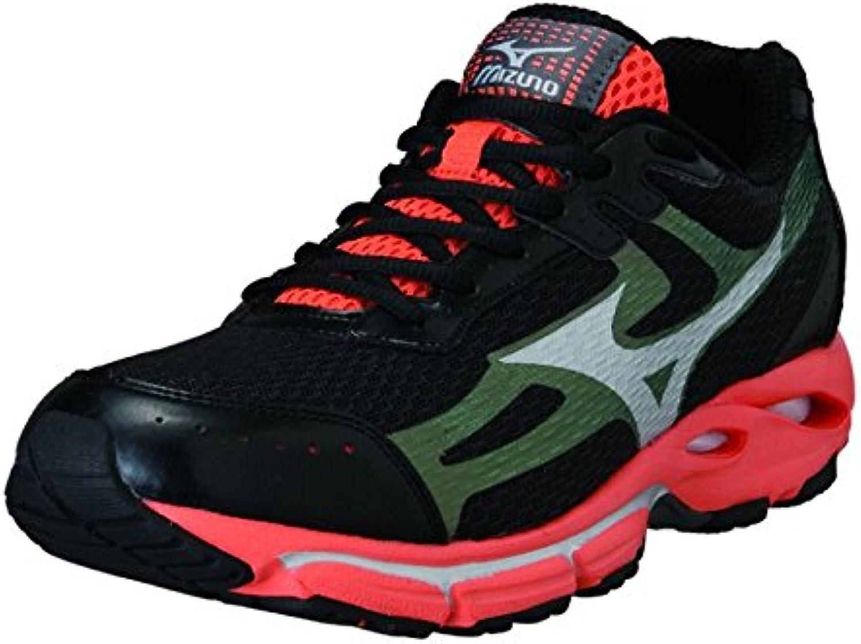 Mizuno shoes Running Sneaker Men Wave Resolute 2 Black orangene
