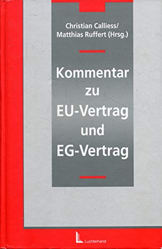 Kommentar zu EU-Vertrag und EG-Vertrag