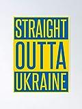 AZSTEEL Straight Outta Ukraine Poster Poster 11.7 * 16.5