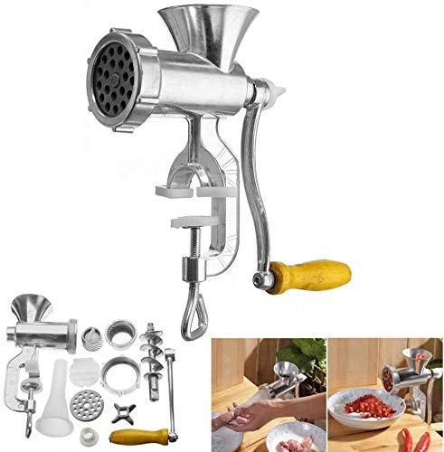 Picadora manual de carne de salsa para espaguetis, hamburguesas, pizza, kubbe, comida con salchicha, tarta de panqueque,