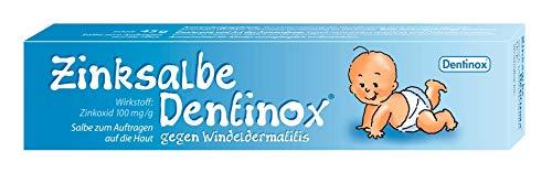 Dentinox Zinksalbe gegen Windeldermatitis - rasche, milde Wundheilung - Wundsalbe, Zinksalbe für Babys, Windeldermatitis Salbe