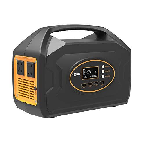 Pixier Tragbarer Akku Generator 1461WH 406000mAh, 1500W reines Sinuswellen Power Station, AC/DC/USB/Autoladegerät-Ausgänge für CPAP Camping Emergency Outdoor