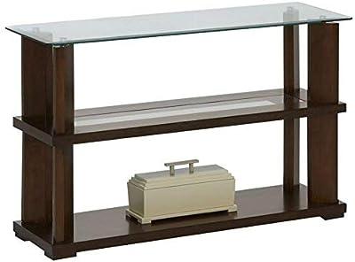 Progressive Furniture Delfino Console Table, Burnished Cherry