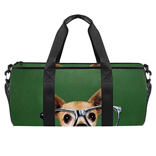 ASDFSD Sporttasche Sporttasche Sporttasche Sporttasche Medium Reisetasche Fitness Sportgerät Ausrüstungstasche Hund Brille