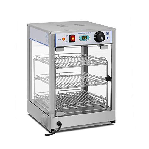 Royal Catering Vitrina Caliente Calentador Eléctrico RCHT-850 (850 W, Rango de temperatura...