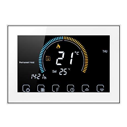 Decdeal Termostato Manuale per Caldaia a Gas - LCD Retroilluminato Schermo,Indice UV Visualizzazione umidità Funzione Blocco, Interruttore ℃   ℉