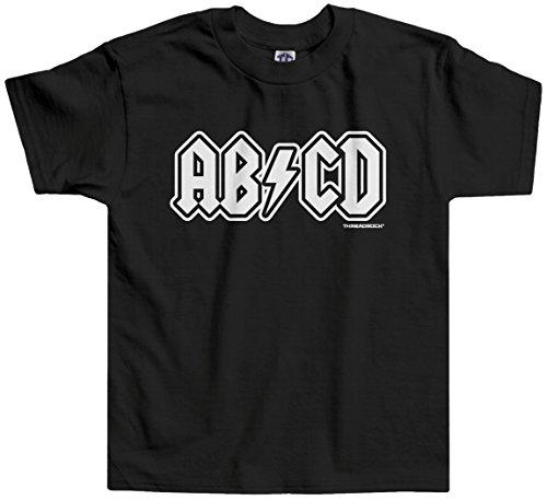 Threadrock Little Boys' ABCD Toddler T-Shirt 4T Black