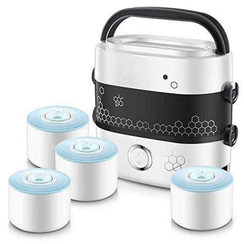 DZX Autocuiseur électrique, mijoteuse, cuiseur à Riz, cuiseur Vapeur, sauteuse, yaourtière et réchaud |, Cuiseur Vapeur Portable pour boîte à Lunch, multicuiseur