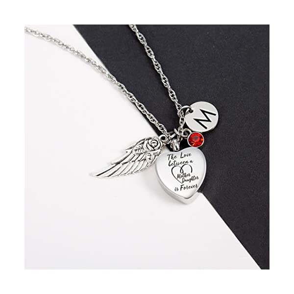 Glimkis The love between a Mother and Daughter is forever Cremation Memorial Ashes Pendant urn necklace Cremation Jewelry