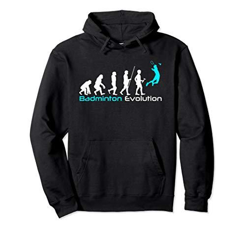 Badminton Evolution T-Shirt für Badmintonliebhaber Pullover Hoodie