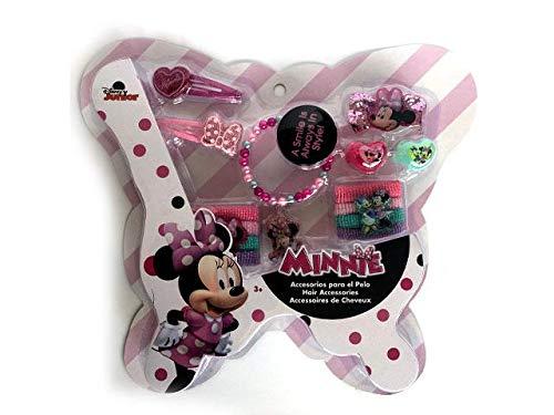 Disney Minnie Mouse Haarzubehör-Set, 4-teilig, Clamshell von Minnie Maus, mehrfarbig, 200 g