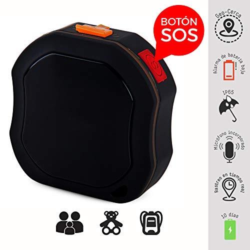 BINDEN Rastreador GPS TK1000 de Uso Rudo para Personas o Vehículo, Perímetro de Seguridad, SOS y…