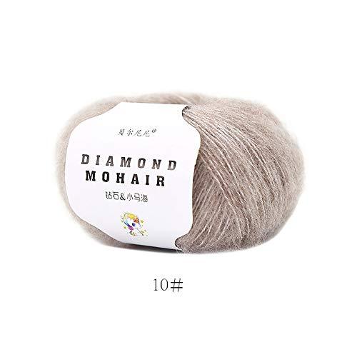 XINSHENG Store 25g Wolle Garn Strickgarn häkeln Wolle Garn for das Stricken Pullover Socken 166m 0.9mm (Farbe : 10 1pc)