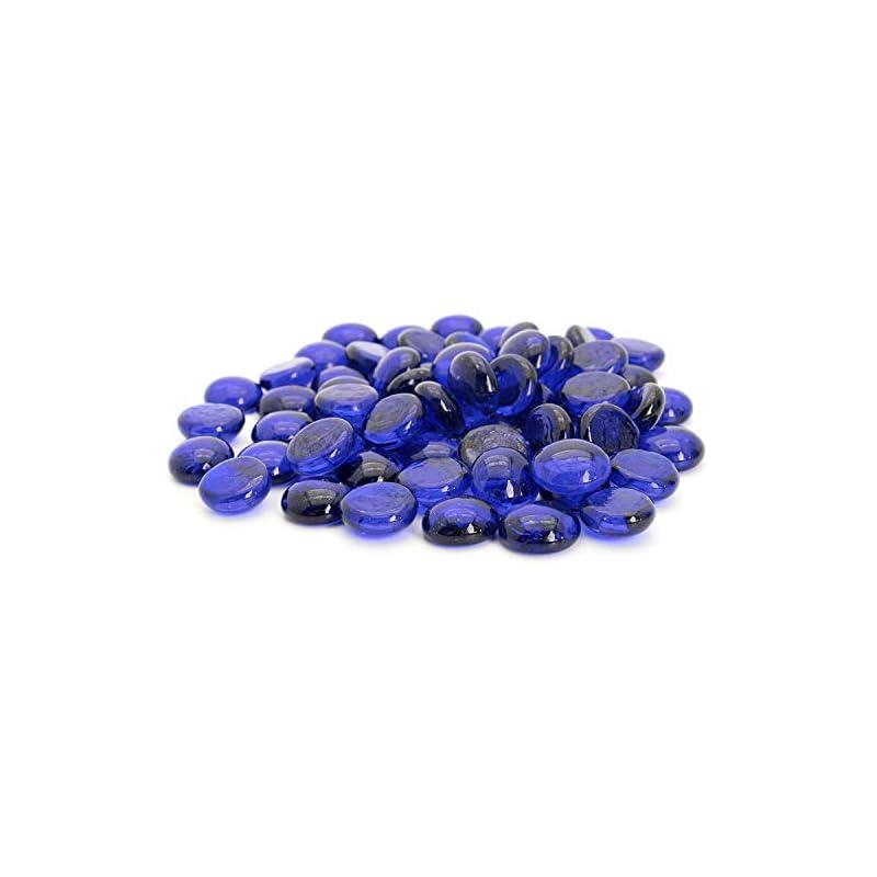 silk flower arrangements royal imports glass flat marbles, party table scatter, wedding centerpieces decor, aquarium pebbles, vase filler gems, 5 lbs (approx 400 pcs), blue