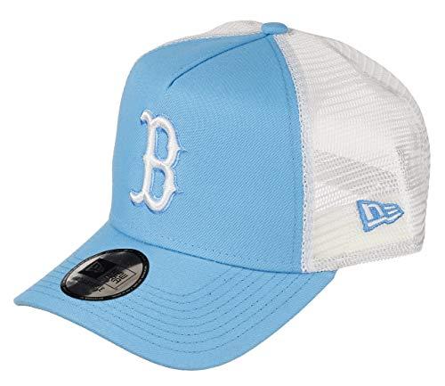 New Era Boston Red Sox MLB Cap Trucker Baseball Damen Verstellbar Neon Blau - One-Size