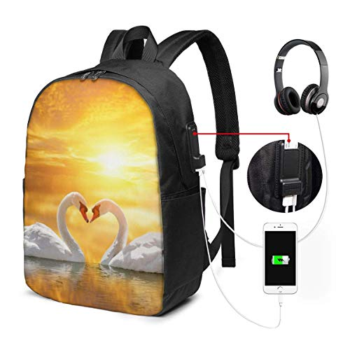 Irregular Ship Fashion Travel Backpacks for Men and Women, School Laptop Bookbags with USB Charging Port Fit 17 Inch
