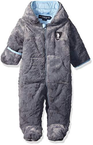 U.S. POLO ASSN. Baby-Jungen Pram (More Styles Available) Daunenalternative, Jacke, anthrazit, 12 Monate