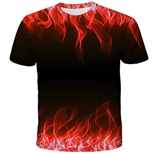 Camiseta De Color Negro Llama con Impresión 3D, Cuello Redondo De Verano De Manga Corta Unisex, Camiseta Deportiva Suave Y Transpirable Que Absorbe El Sudor-C_XL