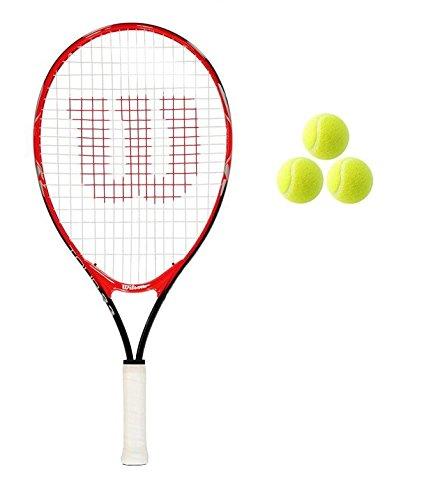 Wilson WRT21110S Tour Junior Raqueta De Tenis, Juventud Unisex, Rojo, 21' Red