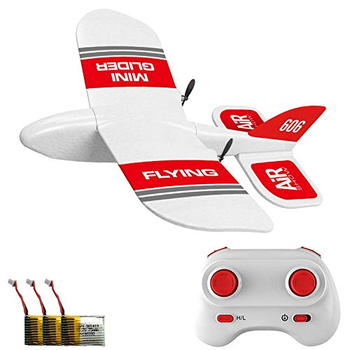 Ceepko KF606 Remote Glider, Remote Control Toy Airplane, Epp Foam Material, Anti-Fall, Good Flexibility, Children's Birthday Gift, Suitable for Outdoor, Indoor Gyroscope Gliding Aircraft