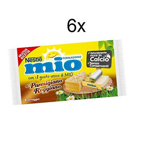 6x Nestlè Formaggino Mio Parmesan Parmigiano Käse Frischkäse reich Kalzium 125g
