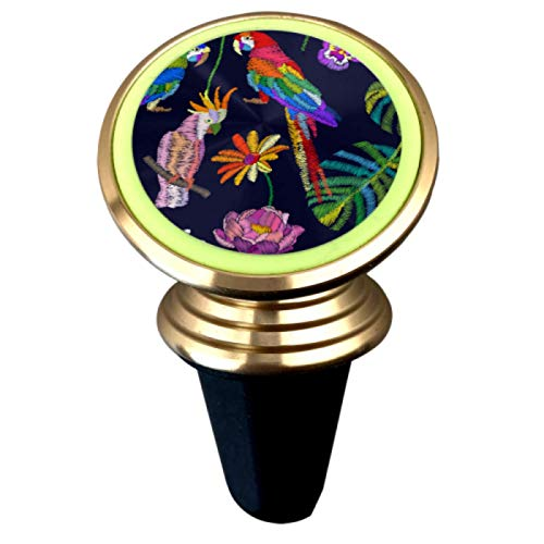 Tropical Summer Parrots Phone Mount Magnetic Car Phone Mount Magnetic Strong Magnet Air Vent Mount 360°Rotation Universal Car Cup Phone Holder for Phone Or GPS