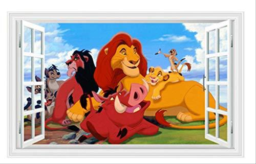Stickers Muraux,Simba Décoration De Stickers Muraux,s De Porte Décoration À La Maison Art De Murs Autocollant Cadeaux Intérieur d'enfants PVC Vinyle 60x90cm