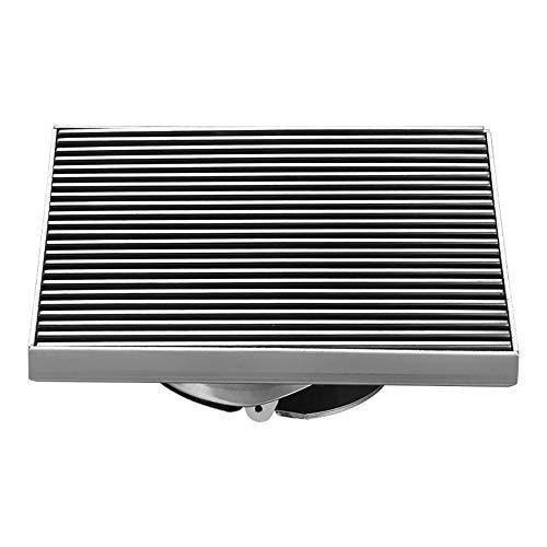 QuRRong Bodenablauf Solide 304 Edelstahl 12x12cm Bodenablauf Badezimmer-Platz für Hotel Badezimmer (Color : Black, Size : ONE Size)