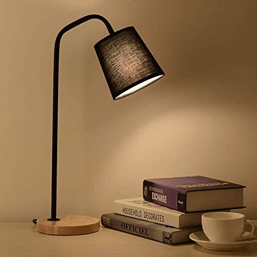 Bureaulamp met Houten Base Nachtkastje Lampen, Modern nachtkastje lampen, Simple bureaulampen for de slaapkamer, woonkamer, Office