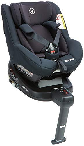Maxi-Cosi Beryl, Silla coche Isofix Grupo 0+, 1, 2, contramarcha y reclinable, crece con el niño desde nacimiento hasta 7 años, Color negro (essential black)