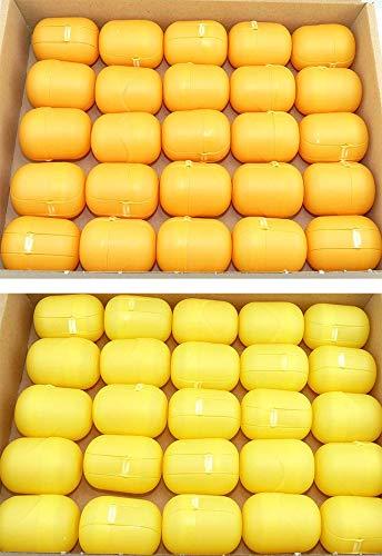 Kinder Überraschung, 50 gelb - orange Ü-Ei Kapseln (Ü-Eier Kapsel von Ferrero)