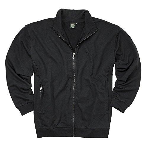 Ahorn Sportswear Basic Trainer Jacke schwarz für Männer bis Übergröße 10XL, Größe:8XL