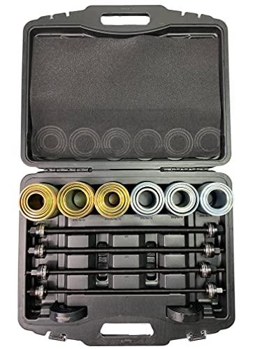 Kraftwelle Casquillos de presión, juego con 4 husiles, desmontaje, montaje de rodamientos, cojinetes, placas de presión para coche, 26 piezas