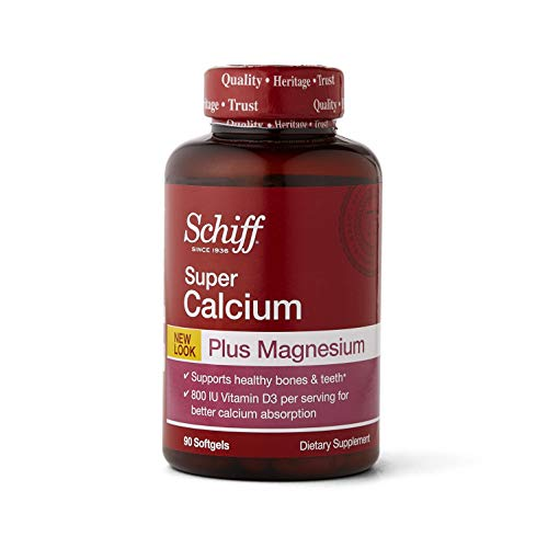Schiff Calcium Carbonate Plus Magnesium with Vitamin D3 800 IU, Calcium Supplement, 90 ct