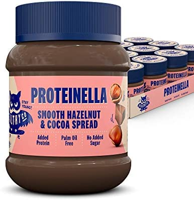 HealthyCo - Proteinella Salted Caramel Spread 400g - A Healthy Snack with No Added Sugar, Palm Oil Free and Added Protein