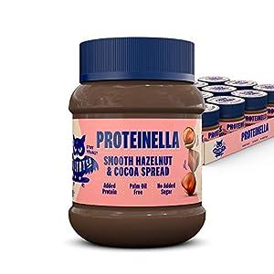 HealthyCo - Proteinella para untar con sabor a avellanas y cacao 400g - Un refrigerio saludable sin azúcar agregada, sin aceite de palma y con proteína agregada