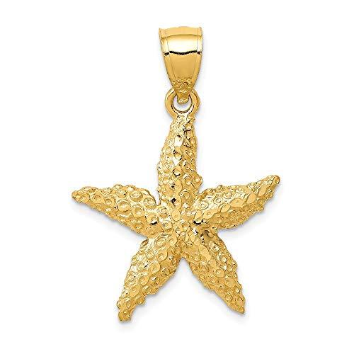 Roy Rose Jewelry 14K Yellow Gold StarFish Pendant 29mm length