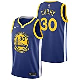 Lalagofe Stephen Curry #30 Golden State Warriors, Blue Away Jersey Camiseta de tirantes Swingman bordado, estilo de ropa deportiva gimnasio (S, Azul Away), Hombre, Blu Away, S