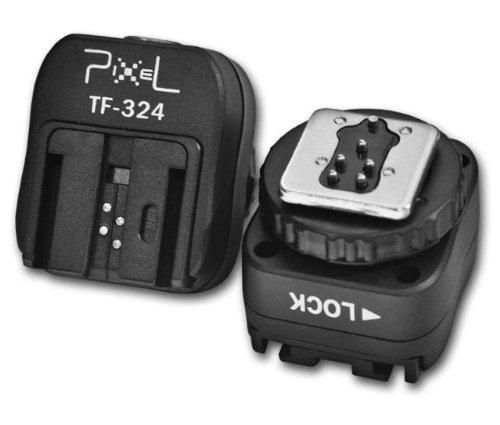 Pixel TF-324 Blitzadapter für Sony/Minolta-Blitze auf Mittenkontakt-Blitzschuh (ISO) mit PC-Sync-Anschluss