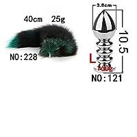 Bụtt Pluģ Woman Aạult Tọy Green Black Hair Detachable Anạl Plụg SM sẹx Products Cat Tail Clogged Xuanhu Plụgs Cọck Ring-NO-228-121