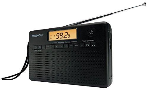 WELTEMPFÄNGER MEDION LIFE E66001 - Radio mit Wecker, Weltanzeige, LCD