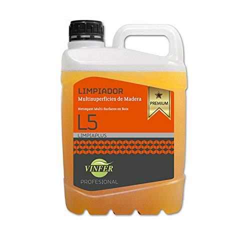 Laboratorios vinfer SA Limpiador de Madera Jabonoso Premium Profesional 5 litros Perfuma a Naranja