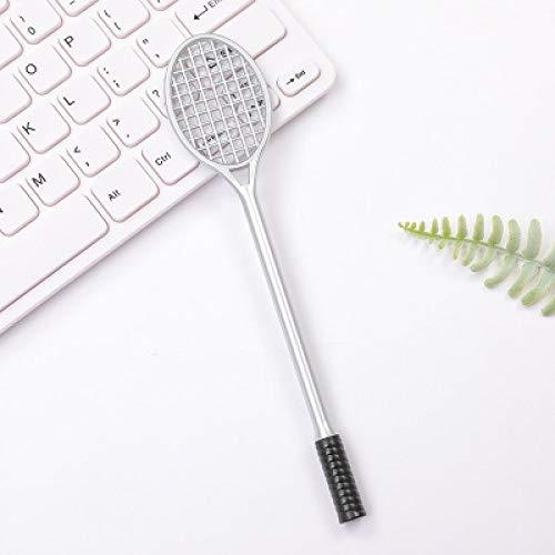Badmintonschläger Stift Kreative Realistische Tennisschläger Gel Stift Schwarz 10 Stick Kugelschreiber Grau 19.2Cm