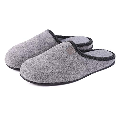 Men's Woolen Fabric Memory Foam House Slippers...