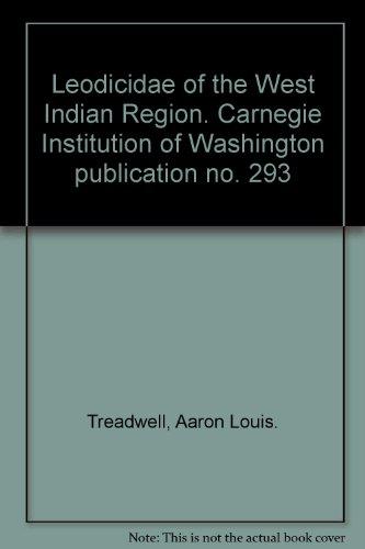 Leodicidae of the West Indian Region. Carnegie Institution of Washington publication no. 293