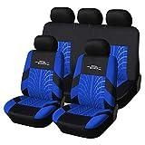 Universel Bleu Seat Covers Tissu résistant 100 Tear% Airbag Respirant Compatible...